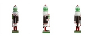 "Northlight 14"" Decorative Brown Red and White TootsieRoll Wooden Christmas Nutcracker Figure"