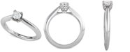 Marchesa Diamond Solitaire Engagement Ring (1/2 ct. t.w.) in 18k White Gold