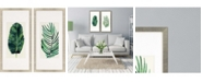 """Paragon Palm Leaves II Framed Wall Art Set of 2, 43"""" x 21"""""""