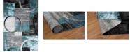Main Street Rugs Home Alba Alb307 Blue/Gray 2' x 3' Area Rug