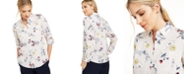 Charter Club Floral-Print Button-Down Linen Shirt, Created for Macy's