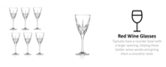 Lorren Home Trends Chic Red Wine Goblets - Set of 6