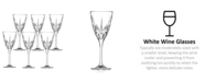 Lorren Home Trends Chic White Wine Goblets - Set of 6