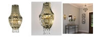 Worldwide Lighting Metropolitan 3-Light Antique Bronze Finish and Clear Crystal Basket Wall Sconce Light