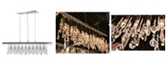 Worldwide Lighting Nadia 10-Light Chrome Finish and Clear Crystal Linear Pendant and Bar Chandelier