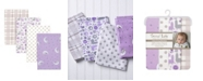 Trend Lab Llamas and Unicorns 4-Pack Flannel Swaddles