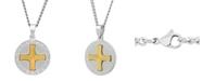 C&C Jewelry Macy's Men's The Lord's Prayer Medallion Pendant Necklace