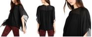 Michael Kors Studded-Neck Cascade-Sleeve Top