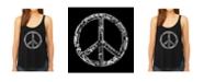 LA Pop Art Women's Premium Word Art Flowy Tank Top- The Word Peace In 77 Languages
