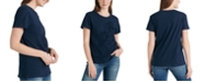 Lucky Brand Flocked Floral-Print Cotton T-Shirt