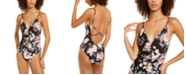Becca First Date Printed Shirred One-Piece Swimsuit