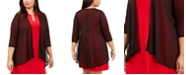 Connected Plus Size Open-Front Shrug