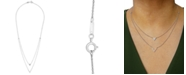 """Wrapped Diamond Double-Strand """"V"""" 20"""" Pendant Necklace (1/5 ct. t.w.) in 14k White Gold, Created for Macy's"""