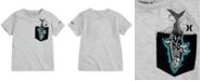 Hurley Big Boys Shark-Print-Pocket Cotton T-Shirt