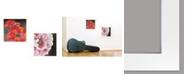 "Trendy Decor 4U Blooms on Black 2-Piece Vignette by Lisa Morales, White Frame, 15"" x 15"""