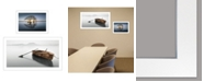 "Trendy Decor 4U Trendy Decor 4U Tree Reflections 2-Piece Vignette by Moises Levy, White Frame, 39"" x 21"""