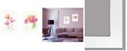 """Trendy Decor 4U Simple Bouquets 2-Piece Vignette by Kait Roberts, White Frame, 15"""" x 19"""""""