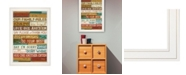 """Trendy Decor 4U Our Family Rules by Marla Rae, Ready to hang Framed print, White Frame, 15"""" x 21"""""""