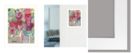 """Trendy Decor 4U Blooming in the Window Sill by Kait Roberts, Ready to hang Framed Print, White Frame, 15"""" x 19"""""""