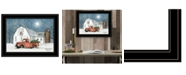 """Trendy Decor 4U Wintry Weather by Billy Jacobs, Ready to hang Framed Print, Black Frame, 19"""" x 15"""""""