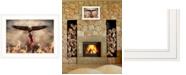 "Trendy Decor 4U Blaze of Glory by Lori Deiter, Ready to hang Framed Print, White Frame, 21"" x 15"""