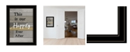 "Trendy Decor 4U Happily Ever After by Karen Tribett, Ready to hang Framed Print, Black Frame, 15"" x 21"""