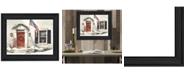 "Trendy Decor 4U Main Street By John Rossini, Printed Wall Art, Ready to hang, Black Frame, 18"" x 14"""