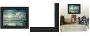 "Trendy Decor 4U Moon Glow by Georgia Janisse, Ready to hang Framed Print, Black Frame, 19"" x 15"""