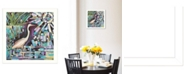 "Trendy Decor 4U Trendy Decor 4U Moonlit Marsh By Ed Wargo, Printed Wall Art, Ready to hang, White Frame, 14"" x 14"""