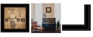 "Trendy Decor 4U Music by Robin-Lee Vieira, Ready to hang Framed Print, Black Frame, 15"" x 15"""