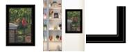 "Trendy Decor 4U Summer Cardinals by Kim Norlien, Ready to hang Framed Print, Black Frame, 15"" x 21"""