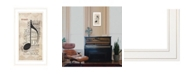 "Trendy Decor 4U Music by Marla Rae, Ready to hang Framed Print, White Frame, 12"" x 21"""