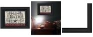 "Trendy Decor 4U Hot Bath by Linda Spivey, Ready to hang Framed Print, Black Frame, 15"" x 11"""