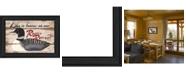 "Trendy Decor 4U Rustic Retreat By Linda Spivey, Printed Wall Art, Ready to hang, Black Frame, 14"" x 20"""