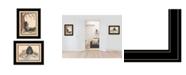 "Trendy Decor 4U Gone Fishing 2-Piece Vignette by Mary June, Black Frame, 19"" x 15"""