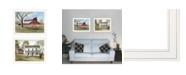 "Trendy Decor 4U Trendy Decor 4U End of Summer 2-Piece Vignette by Billy Jacobs, White Frame, 27"" x 21"""