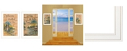"""Trendy Decor 4U Living on the Lake 2-Piece Vignette by Mary June, White Frame, 15"""" x 21"""""""