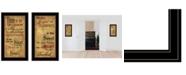"Trendy Decor 4U Joyful 2-Piece Vignette by Billy Jacobs, Black Frame, 15"" x 27"""