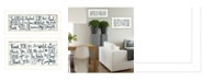 """Trendy Decor 4U Thank You Lord 2-Piece Vignette by Annie LaPoint, White Frame, 20"""" x 11"""""""
