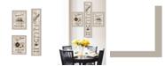 "Trendy Decor 4U The Kitchen Collection II 3-Piece Vignette by Millwork Engineering, Sand Frame, 10"" x 32"""
