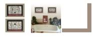 "Trendy Decor 4U Hot Bath 2-Piece Vignette by Linda Spivey, Taupe Frame, 14"" x 10"""