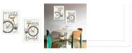 "Trendy Decor 4U Pedal it Out 2-Piece Vignette by Marla Rae, White, 14"" x 20"""
