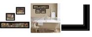 "Trendy Decor 4U COUNTRY BATH II 3-Piece Vignette by Pam Britten, Black Frame, 39"" x 14"""