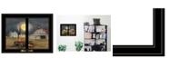 "Trendy Decor 4U Trendy Decor 4U Harvest Moon by Billy Jacobs, Ready to hang Framed Print, Black Window-Style Frame, 19"" x 15"""