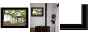 "Trendy Decor 4U Trendy Decor 4U Sweet Summertime House by Billy Jacobs, Ready to hang Framed Print, Black Frame, 19"" x 15"""