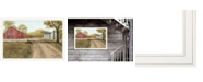 """Trendy Decor 4U Summer in the Country by Billy Jacobs, Ready to hang Framed Print, White Frame, 38"""" x 26"""""""
