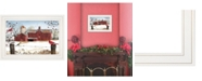 """Trendy Decor 4U Winter Friends by Billy Jacobs, Ready to hang Framed Print, White Frame, 15"""" x 11"""""""