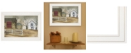 """Trendy Decor 4U The Old Stone Barn by Billy Jacobs, Ready to hang Framed Print, White Frame, 15"""" x 11"""""""