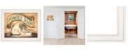 "Trendy Decor 4U Powder Room by Becca Barton, Ready to hang Framed Print, White Frame, 13"" x 11"""
