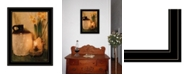 """Trendy Decor 4U Daffodils by Candlelight by Anthony Smith, Ready to hang Framed Print, Black Frame, 15"""" x 21"""""""